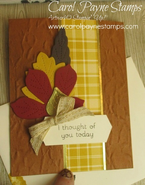 Stampin up love of leaves color challenge carolpaynestamps2