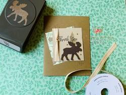 Moose thank you card