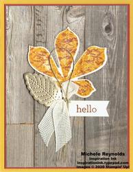 Love of leaves wood framed leaf watermark