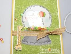 Shaker card zoo globe