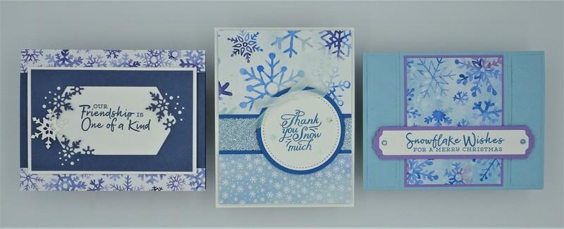 Snowflake splendor   3 card