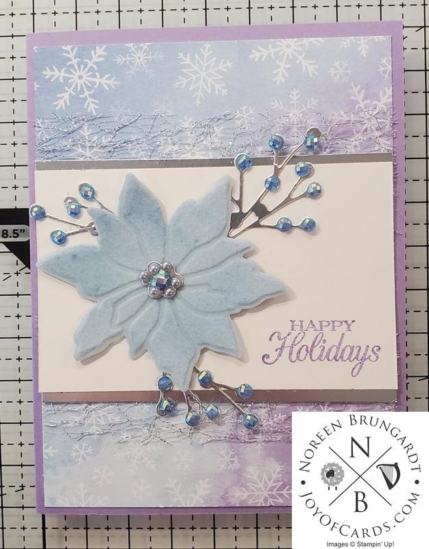 Poinsettia happy holidays card  2