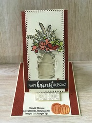 Happy harvest blessings easel card