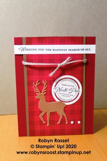 Wishes and wonder velveteen deer plaid tall