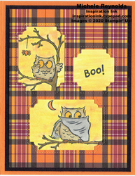 Have a hoot plaid framed owls watermark