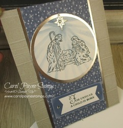 Stampin up trimming the town starlight circle carolpaynestamps2