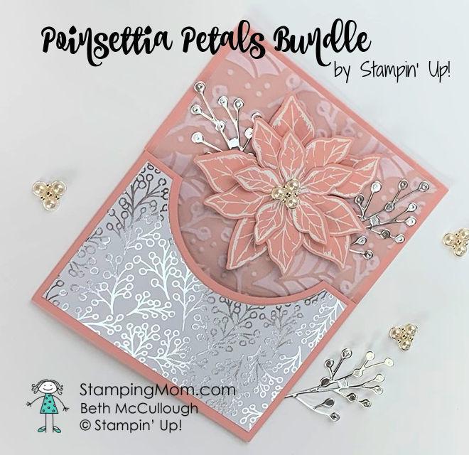 Pink poinsettia petals