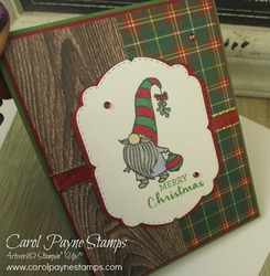 Stampin up gnome for the holidays carolpaynestamps pinterest 1