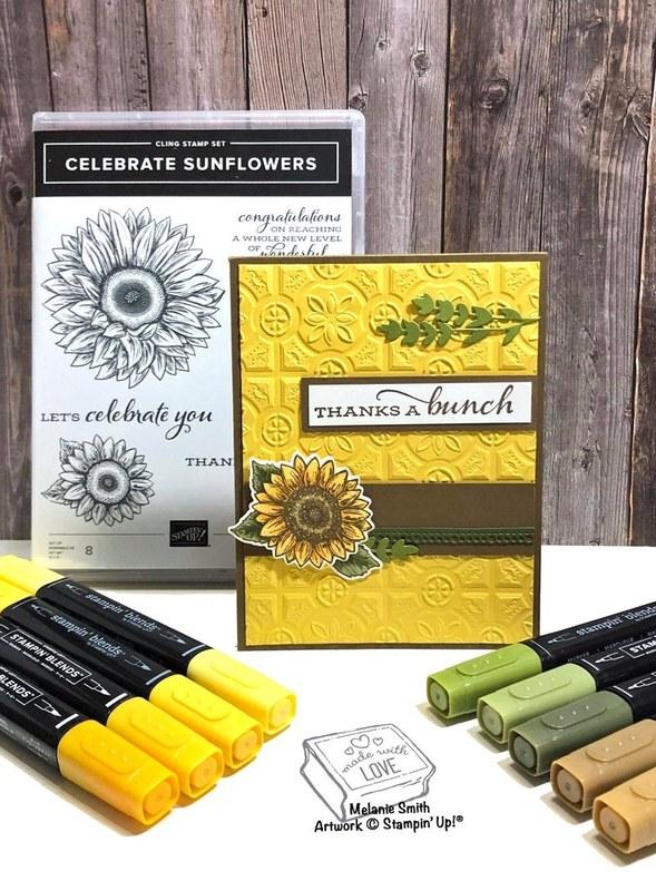 Wednesday sketch stampin up celebrate sunflowers melaniestamps