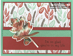 Love of leaves baby wipe leaf and acorn watermark