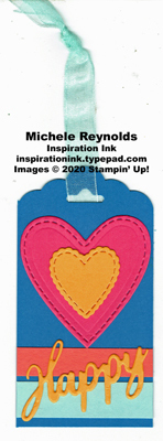 A wish for everything bright happy heart tag watermark