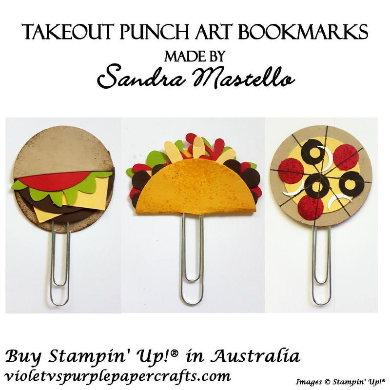 Takeout punch art bookmarks
