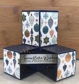 Christmas cube pop up card