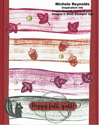 Banner year fall pop out stripes watermark
