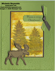 Merry moose gold ice trees watermark