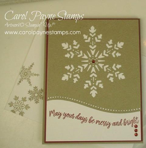 Stampin up snowflake splendor carolpaynestamps2