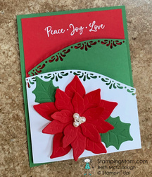 Poinsettia fun fold