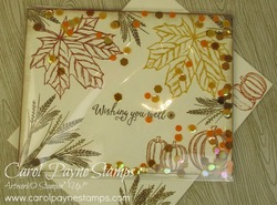 Stampin up gathered leaves shaker carolpaynestamps1