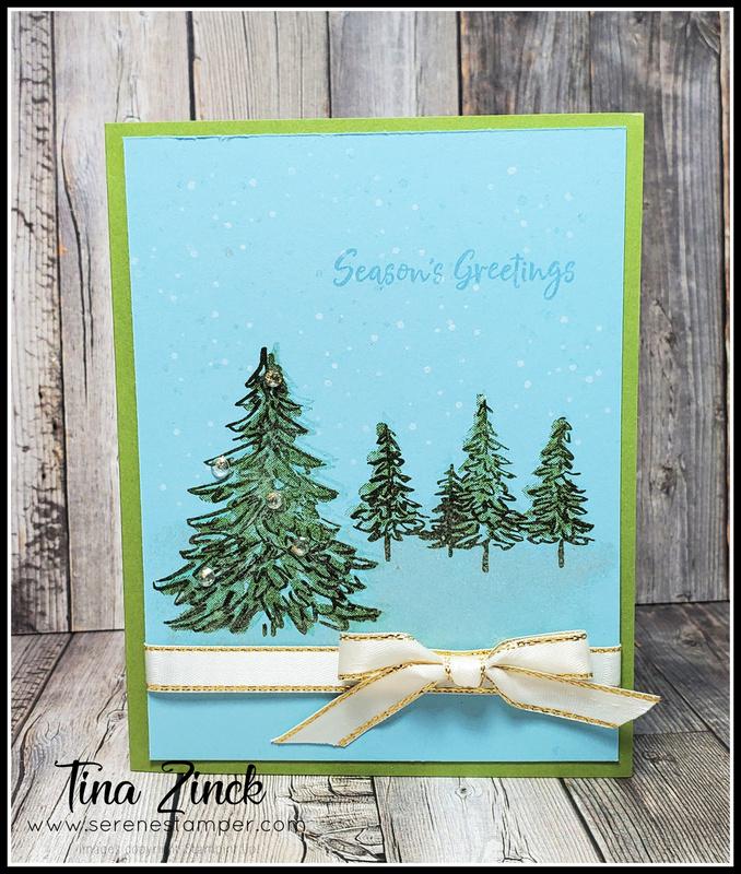 In the pines stampin up tina zinck
