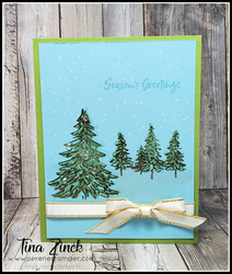 In the pines stampin up tina zinck