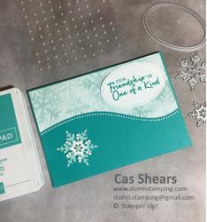 Snowflake friendship card