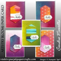Artistry blooms paper card 00