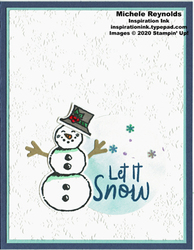 Snowman season snow circle watermark
