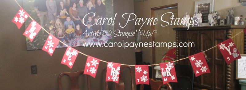 Stampin up gnome for the holidays banner carolpaynestamps1