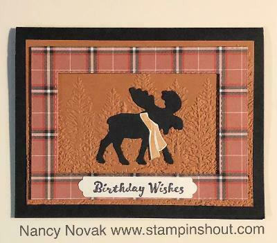 Merry moose bday card