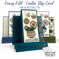 Brightly gleaming center step card melaniestamps stampin up 1