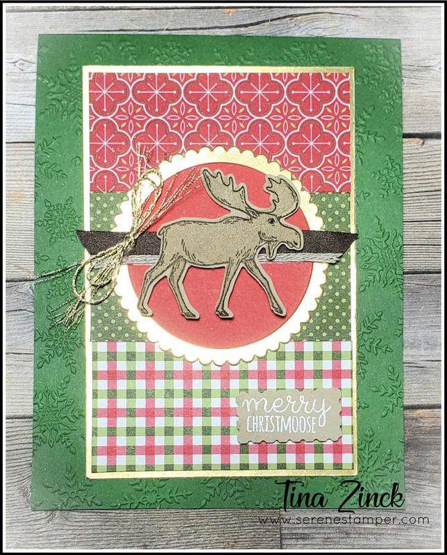 Merry moose stampin up tina zinck