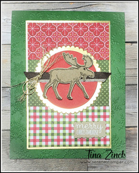 Merry moose stampin up tina zinck