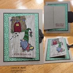 Gnome flip flap card