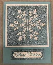 Balmy blue glitter snowflake
