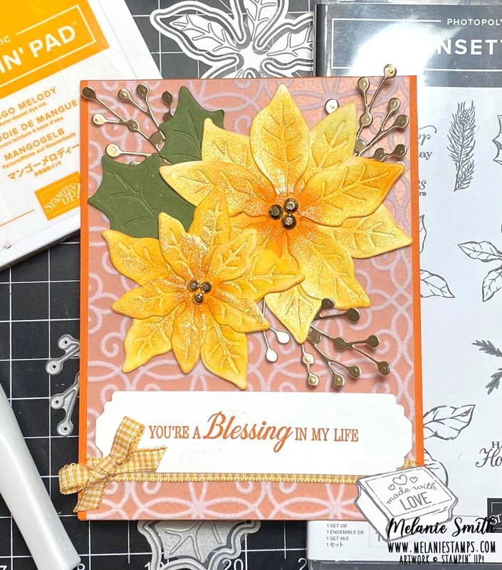 Poinsettia petals stampin up melaniestamps5