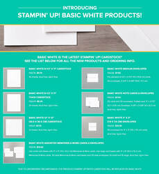 Stampin up basic white card stock replacing whisper white 1405x1536