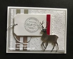 North pole tag card