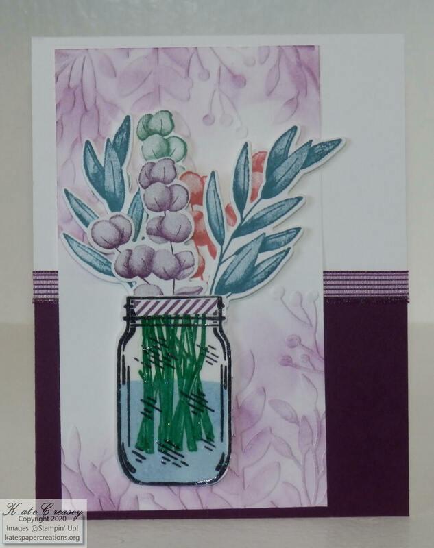 Jar of flowers forever fern