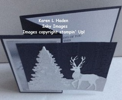 Winter scene z fold card 1