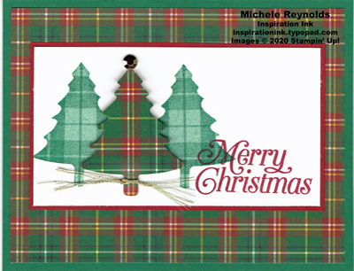 Perfectly plaid plaid trees green watermark