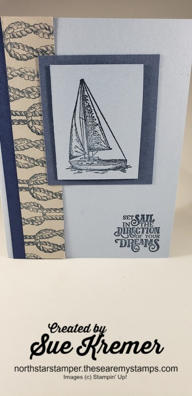 Stampin up sailing home north star stamper