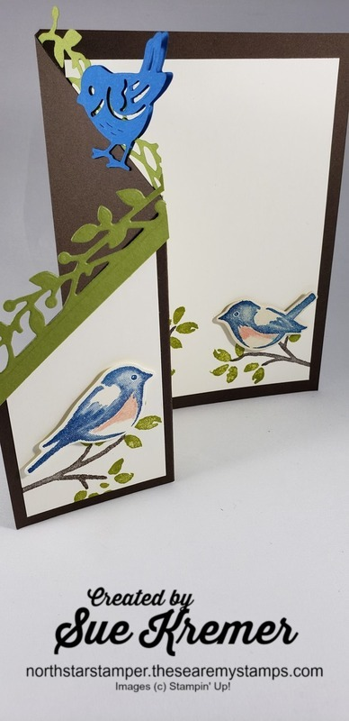 Stampin up birds and branches north star stamper