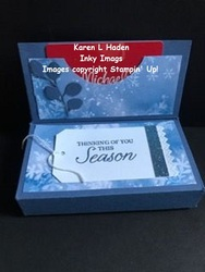 Gift box gift card holder 2