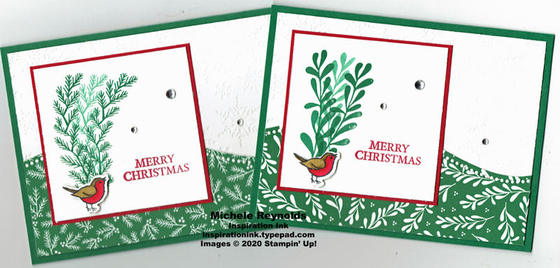 Curvy christmas merry bird watermark