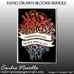 Hand drawn blooms bundle