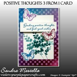 Positive thoughts 3 from 1 card 05