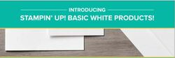 Stampin up basic white products banner