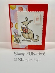 Kangaroo b day card