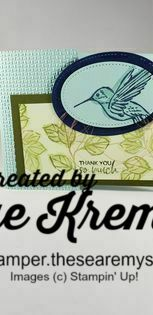 Stampin u a touch of ink leaves hummingbird north star stamper