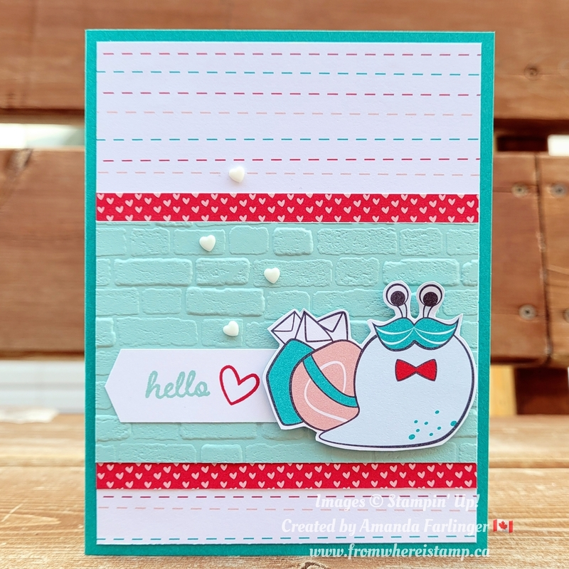 Snail love blog hop from where i stamp